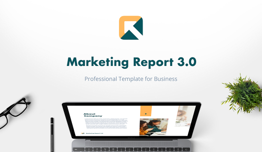 Marketing Report PowerPoint Template