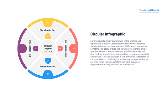 Circular flow diagram for Google slides