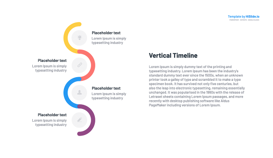 Vertical timeline template for Powerpoint slide