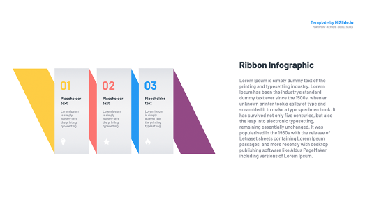 Google slides Ribbon Free Template