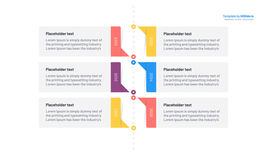 Design Powerpoint vertical timeline template