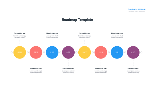 Powerpoint Roadmap graphic template