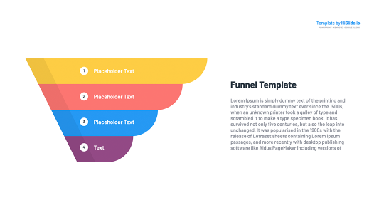 Powerpoint Funnel graphic template