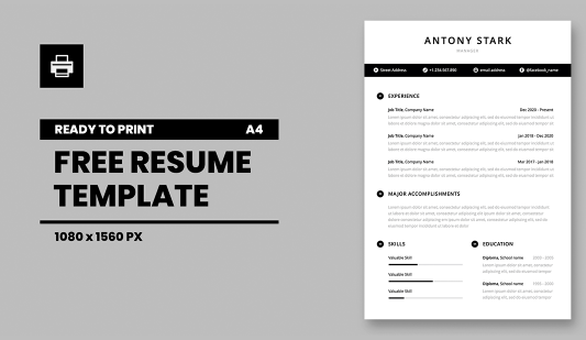 A4 CV Powerpoint template