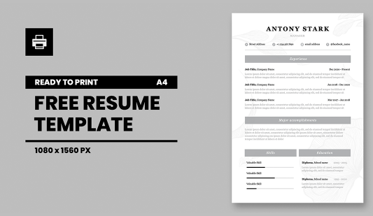 Elegant Resume template in Powerpoint presentation