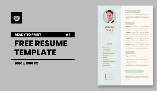 Personal CV A4 Google Slides template for print