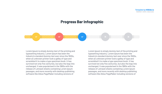 Free Progress bar Google slides