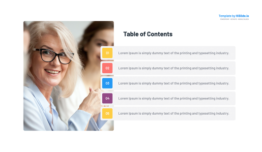 Table of Content Powerpoint