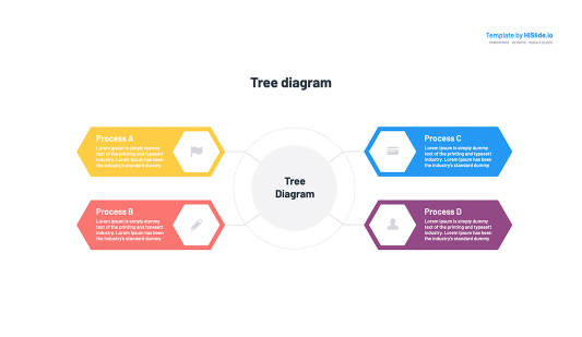 Google Slides Tree diagram template slide