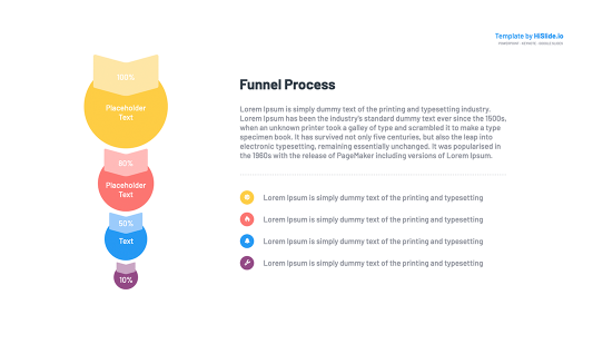 Funnel chart Powerpoint slide