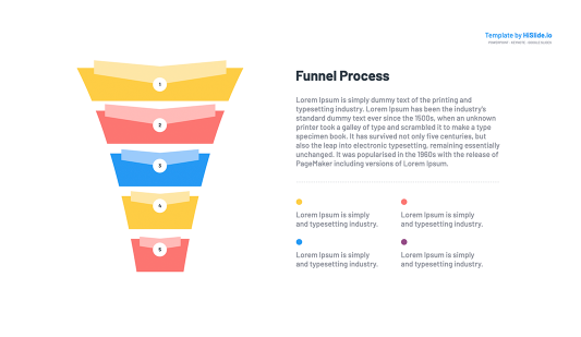 Funnel Keynote template slide