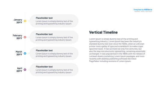 Vertical timeline in Powerpoint template