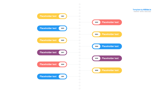 Vertical timeline Powerpoint free