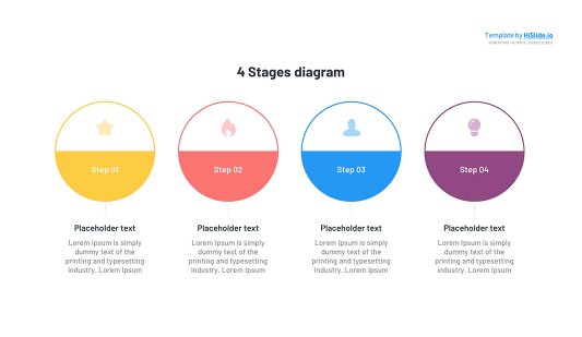 4 Circle Stages Keynote template free