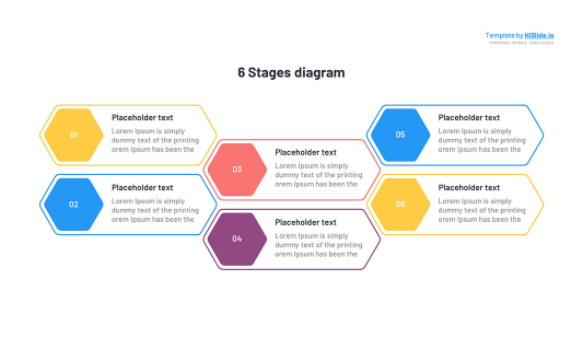 6 Stages template for Google slides free