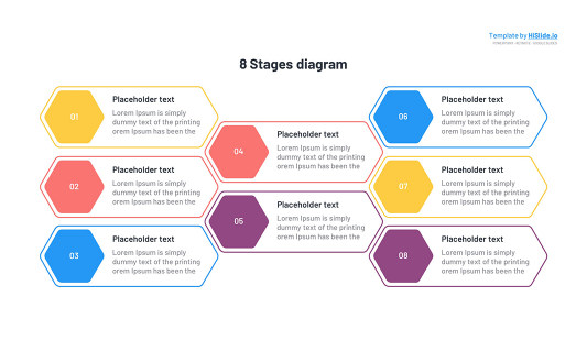 8 Stages template for Google slides free