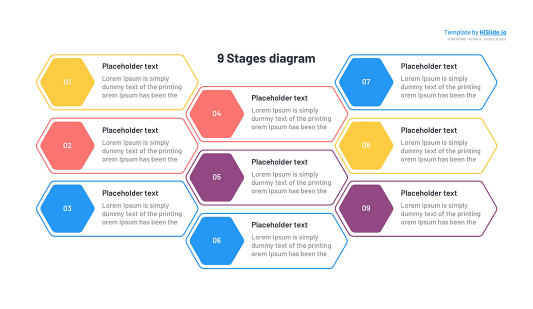 9 Stages template for Google slides free