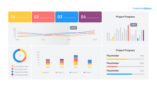 Dashboard in Powerpoint free template