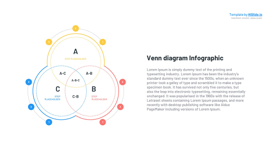 3 Circle Areas Venn diagram Keynote