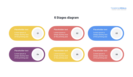 6 Stages Keynote template free