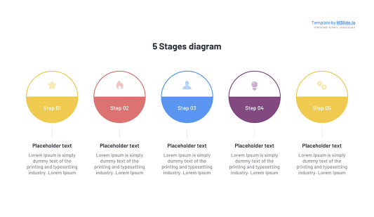 5 Circle Stages Keynote template free