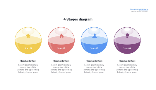 3D Circle 4 Stages Keynote template free