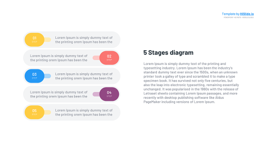 5 Stages Keynote template free