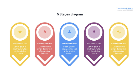 5 Stages template for Keynote