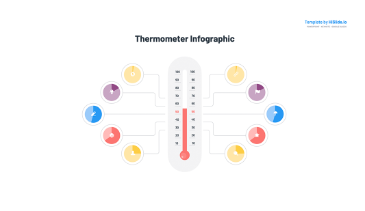 Thermometer Keynote presentation template free