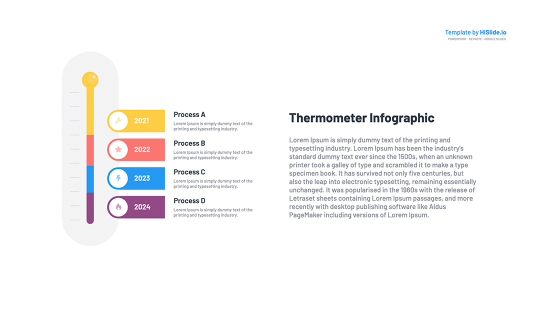 Thermometer Keynote free slide template