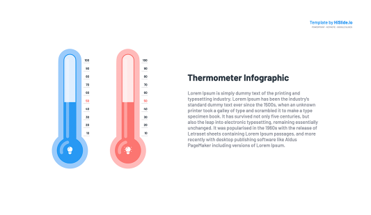 Thermometer Google Slides presentation template