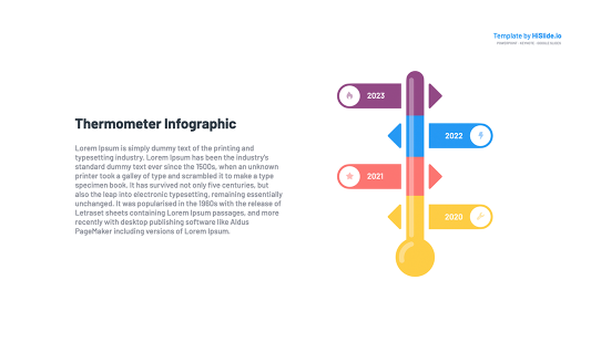 Thermometer Google Slides presentation template free