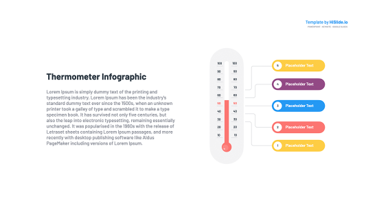 Thermometer chart Powerpoint