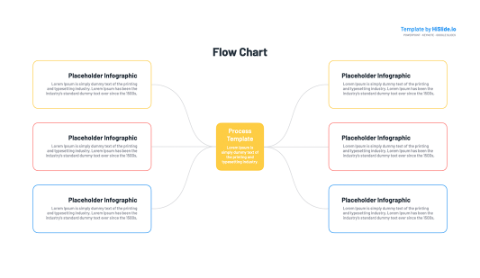 Process Flow chart Keynote template free