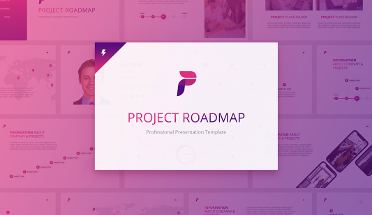 Project Roadmap Google slides template