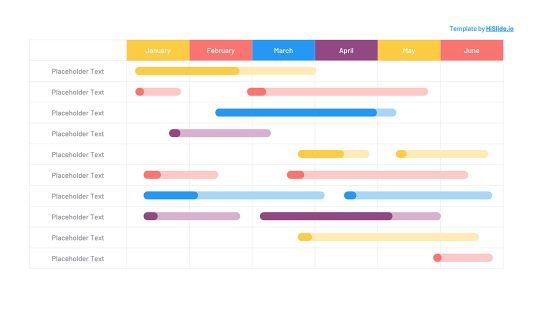 Week Planning table PowerPoint template