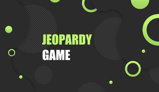 Template for Jeopardy Google slides