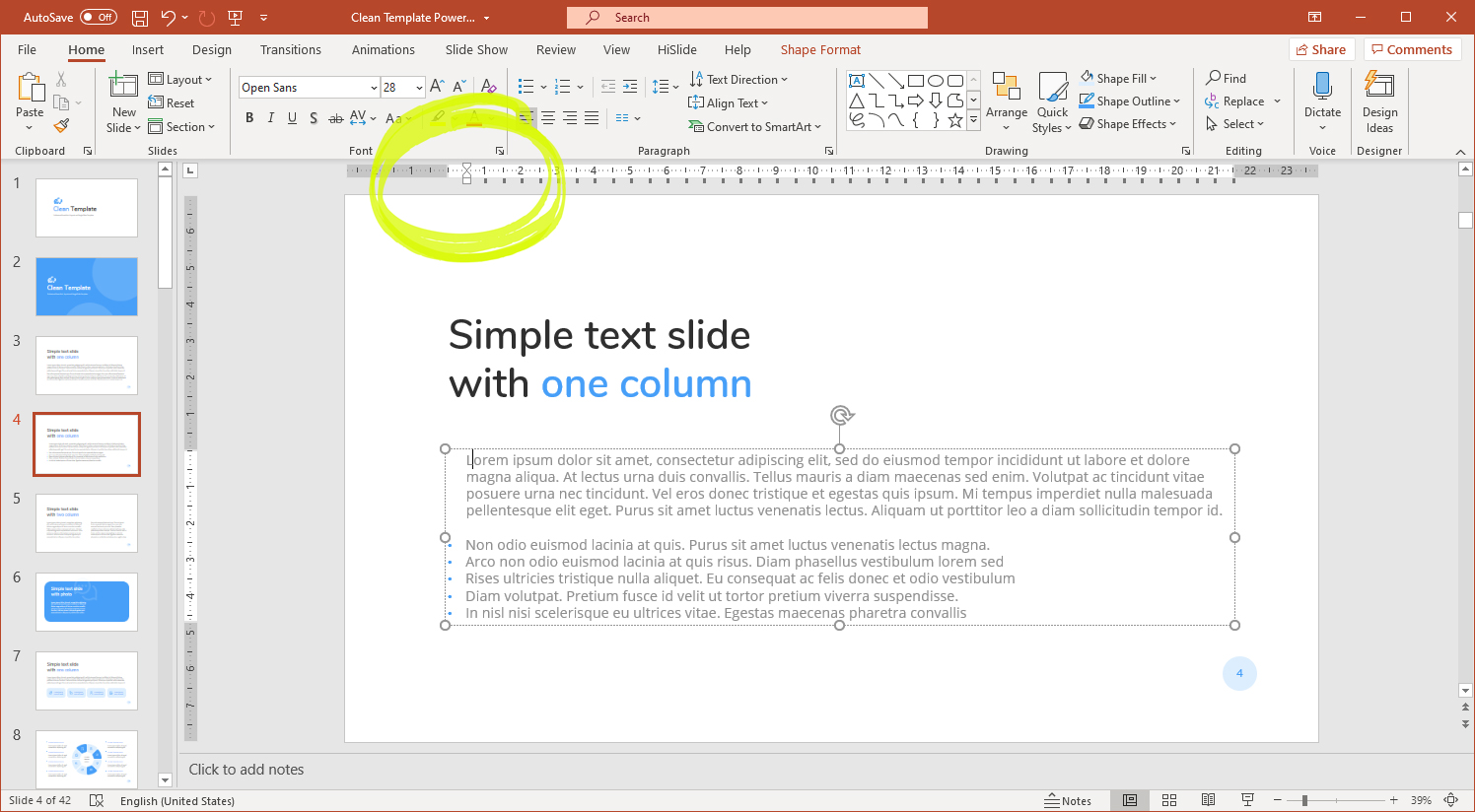 Using rulers to customize text