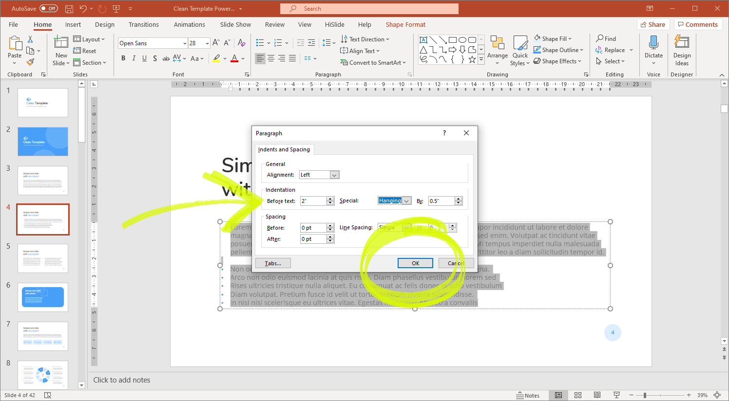 Powerpoint paragraph spacing