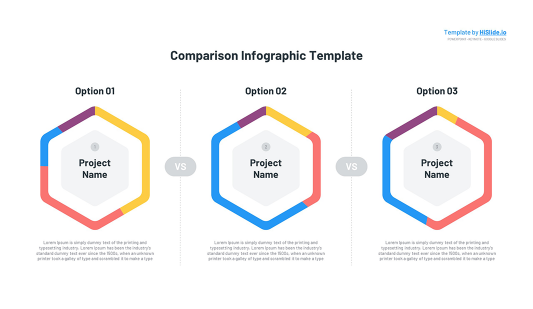 3 Comparison charts in Keynote template