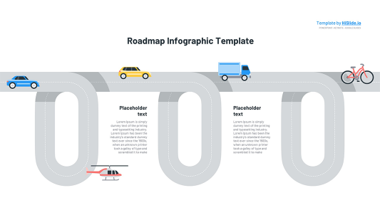 Free Roadmap template for Powerpoint