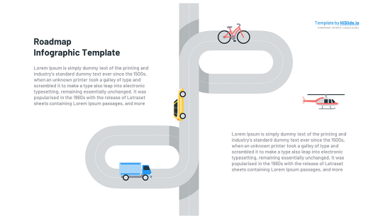 Curved Roadmap Powerpoint template