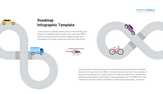 Free Curved Roadmap Google slides template