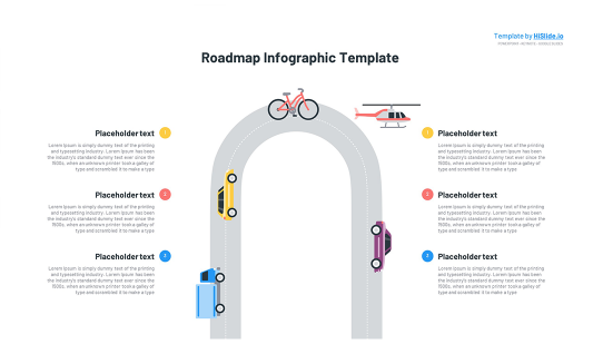 Free Roadmap graphic for Powerpoint