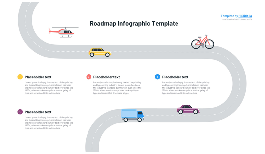 Roadmap graphic template for Powerpoint