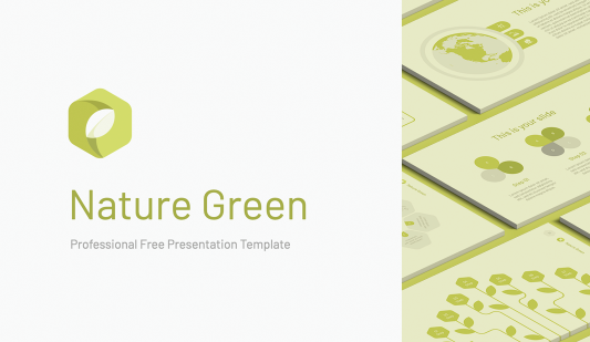 Nature Green Google slides template