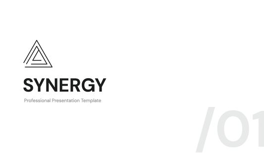 Synergy Clean PowerPoint Template