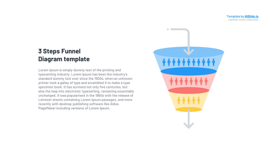 Funnel Conversion 3 Stages Powerpoint