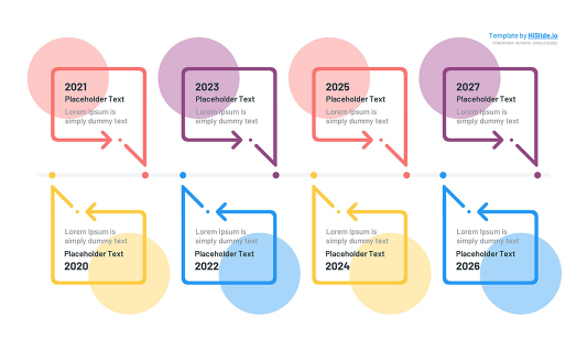 8 Stages Time line Powerpoint template