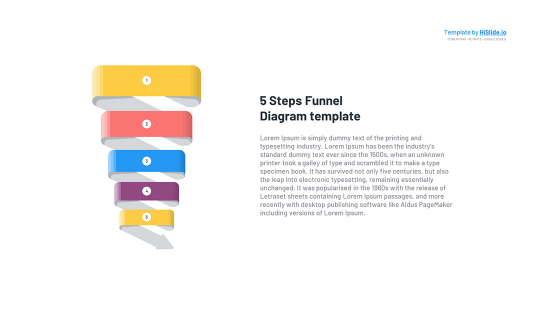 5 stages Funnel in Keynote